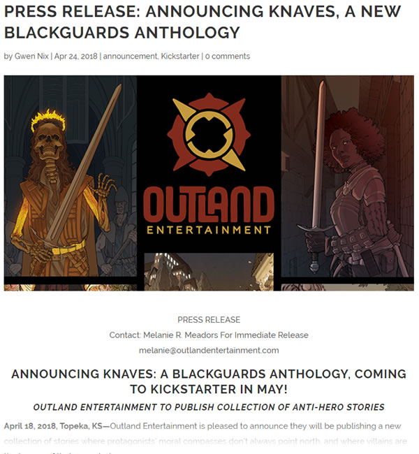 Knaves: A Blackguards Anthology by Outland Entertainment
